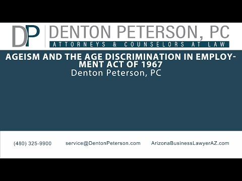 Ageism and the Age Discrimination in Employment Act of 1967