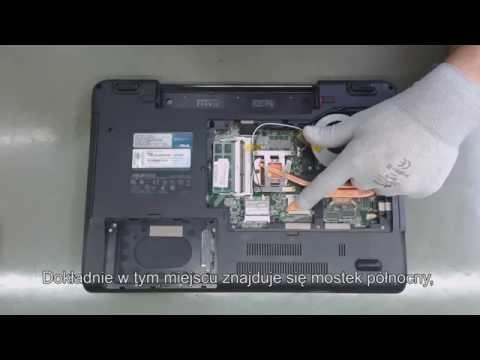 ASUS N52D nie włącza się, brak obrazu, czarny ekran. Naprawa laptopa, wymiana BGA  AMD 215-0752007.