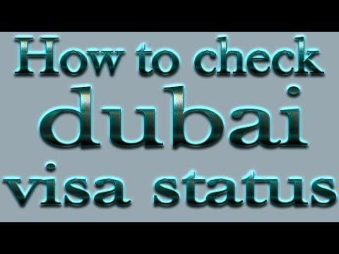 how to check dubai visa status online