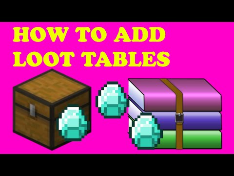 How to add loot tables to your world - Minecraft Tutorial