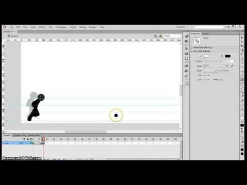 Tutorial How to Make Stick Man Fight 1 (Tutorial membuat stickman) Adobe Flash CS6