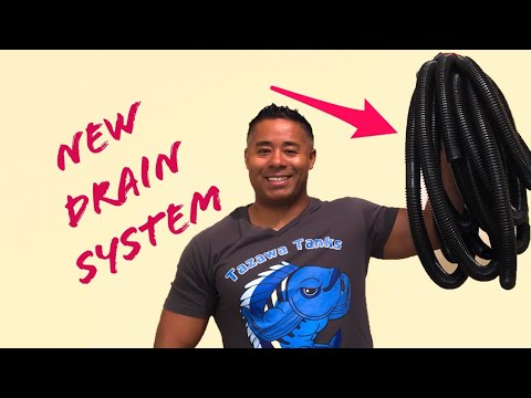 New Drain System for the Fishroom! Faster Aquarium Water Changes Now!
