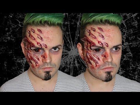 Shattered Glass Trauma Makeup! - 30 Minute Effects Makeup Series!