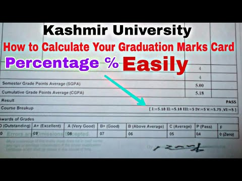 How to Calculate Your marks Card Percentage {%}