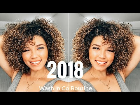 2018 Wash and Go Routine   Colour Processed Curls   3B/3C Curls   Ashley Bloomfield