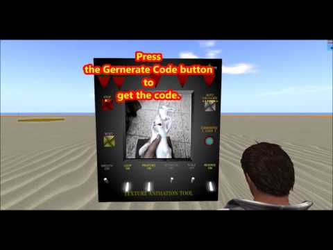 BUILD A TEXTURE ANIMATION TOOL FOR OPENSIM AND SECONDLIFE-GET THE FREE SCRIPT