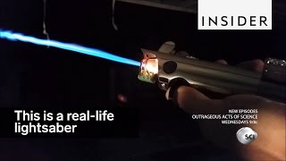 This is a real-life lightsaber – here