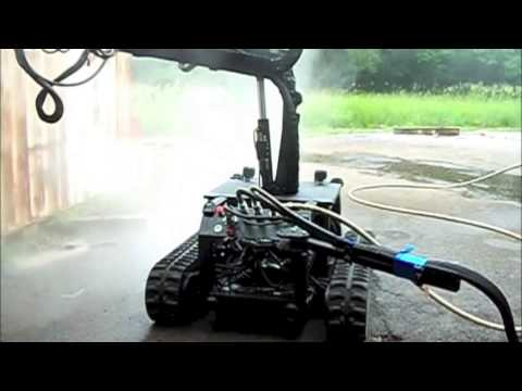 The PSI Pressure Systems Corp M1 line of Water Blasting robots