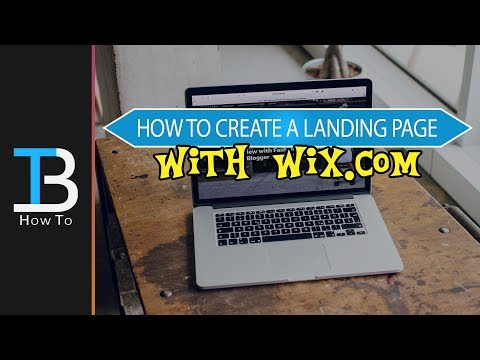 How to Create A Free Landing Page with Wix - Create a Wix Website