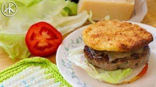 Keto Hamburger Buns (Cauliflower Buns) & Keto Pork Burgers | Headbanger