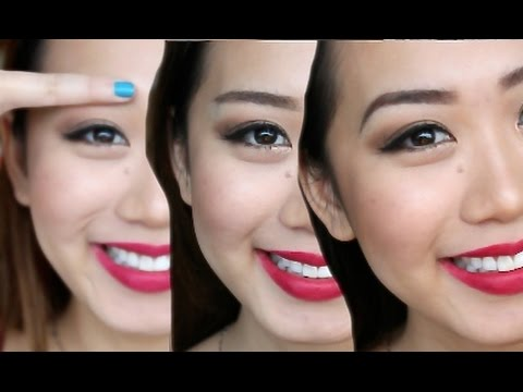 How to: 3 different eyebrow shapes! |sparse asian brows|