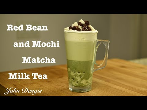 Red Bean and Mochi Matcha Milk Tea | John Dengis