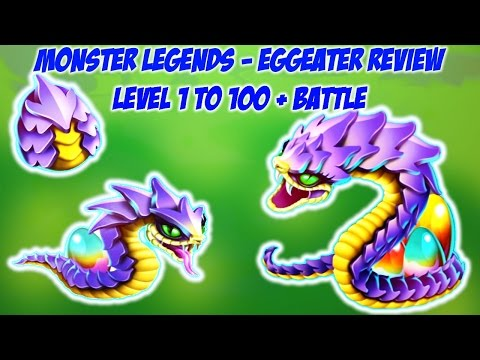 Monster Legends - Eggeater level 1 to 100 + Battle review
