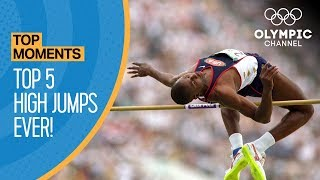Top 5 Olympic High Jumps of All-Time! | Top Moments