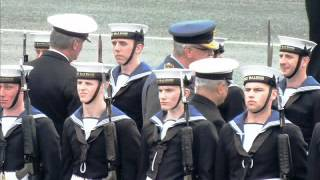 Dean Hobday presentation of award at HMS Raleigh passing out