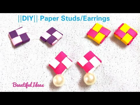 DIY / How to Make Quilling Paper Studs/ Earrings at Home/Paper Jewellery/Beautiful Ideas/Tutorials..