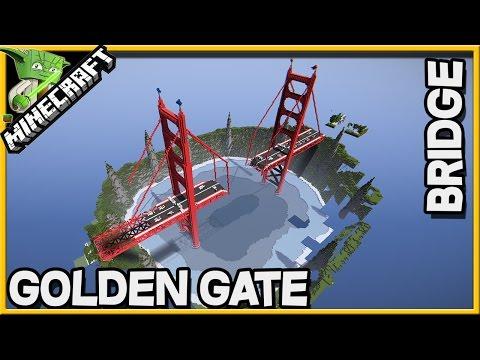 Minecraft Golden Gate Bridge