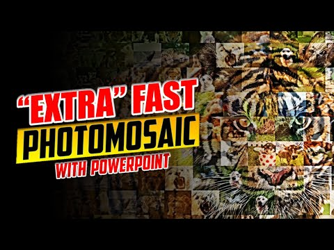 Fast Photo Mosaic Trick in PowerPoint