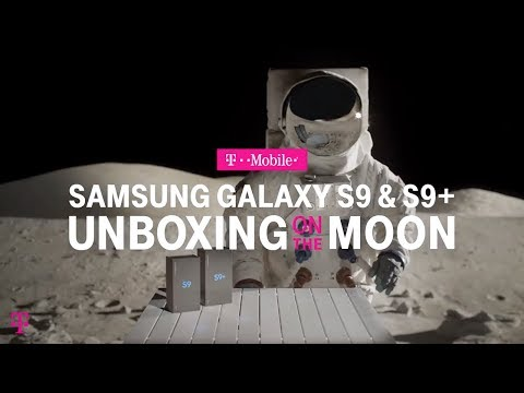 NEW Samsung Galaxy S9 & S9+ Unboxing on the Moon | T-Mobile ft. AskDes