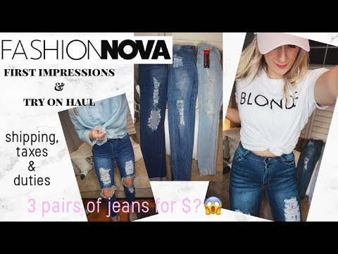 Fashion Nova Jeans First Impressions & Try On Haul | Coupon Code