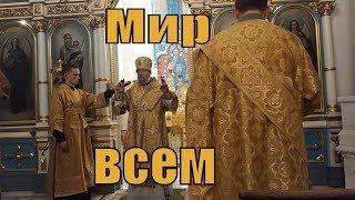 Благословение епископа Боровлянского Игнатия, викария Минской епархии на всенощном бдении.