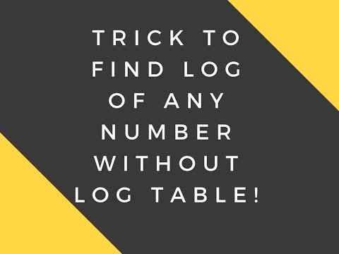 Find log of a number without log table and Calculator