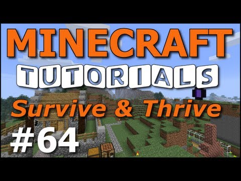 Minecraft Tutorials - E64 Carrot and Potato Farms (Survive and Thrive Season 4)