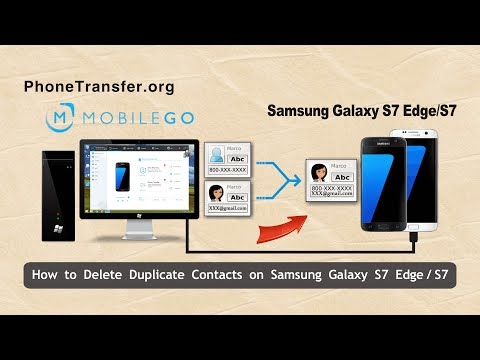 How to Delete Duplicate Contacts on Samsung Galaxy S7 Edge, Merge Galaxy S7 Duplicated Contacts