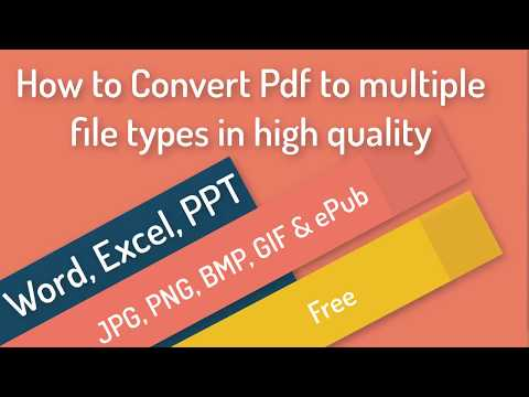 How to Convert Pdf to multiple file types in high quality | review