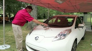 "Nissan ""self-cleaning"" paint demonstration"