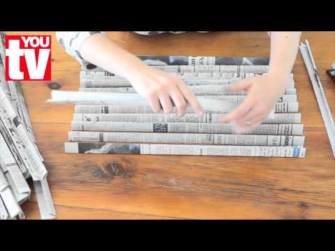 Tip: Make a basket out of newspaper