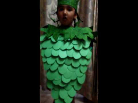 Khushi in grapes costume made by me