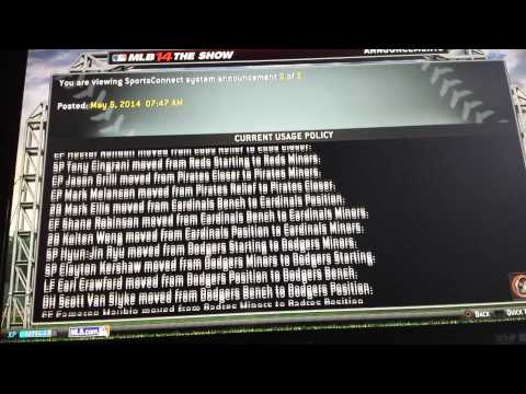 MLB 14 The Show PS4 Roster Updates?