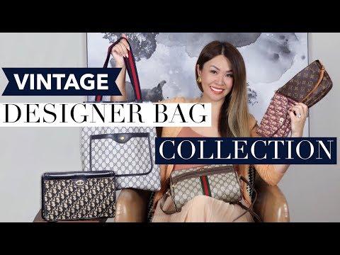 DESIGNER VINTAGE BAG COLLECTION + MOD SHOTS   Gucci, Louis Vuitton, Dior