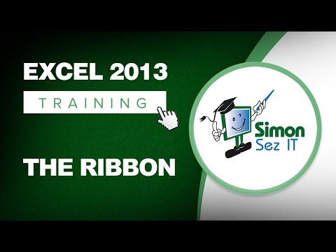 Microsoft Excel 2013 Training - The Ribbon - Excel Training Tutorial
