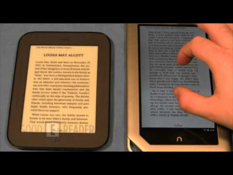 Barnes and Noble Simple Touch Reader and Nook Tablet Comparison
