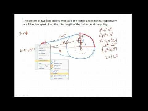 Trig U3A2 --  pulley/belt application