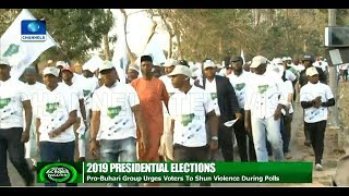 Download 2019: Group Urges Voters To Shun Violence During Election Video
