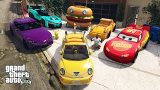 GTA 5 - Stealing CARTOONS Vehicles with Franklin! (Real Life Cars #96)
