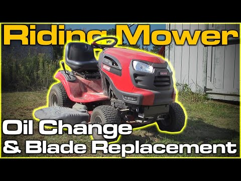 Riding Mower Oil/Filter Change and Blade Replacement