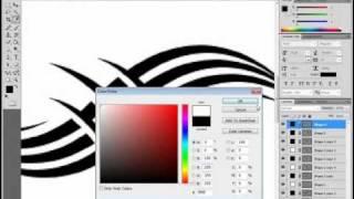 Photoshop Pen Tool Tutorial (tattoo Design)