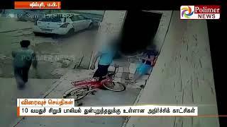 Madhya Pradesh Kid was molested - Video caught on CCTV | Polimer News