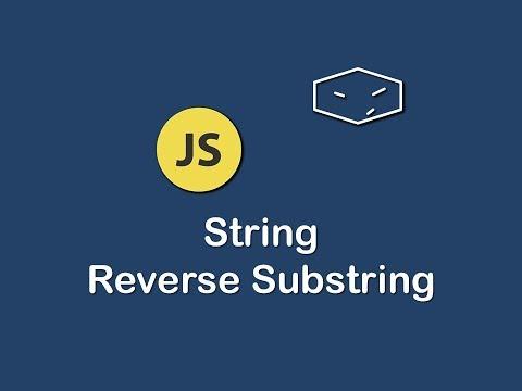 string reverse substring in javascript