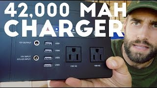 ★★★★★ BIG Power Bank Charger Review - AIVANT AC Power 42000mAh 200W (Max) - Amazon