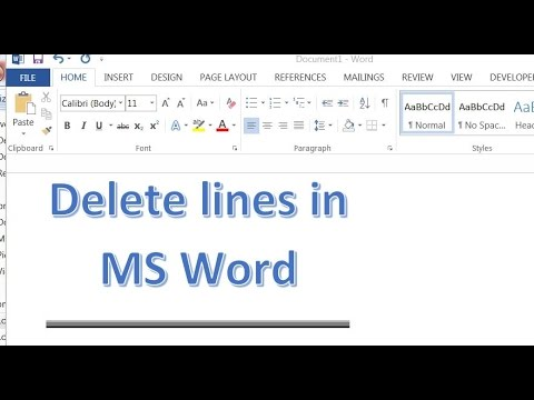 How to remove page break lines