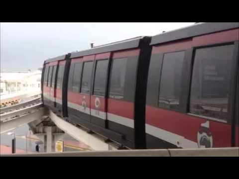 People Mover train in Venice, Italy: 23 August 2014