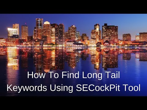 How To Find Long Tail Keywords Using SECockPit Tool - LIVE Training