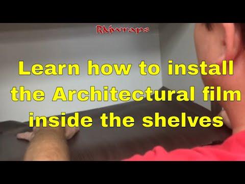 3M Di-noc How to vinyl wrap inside shelves - Rmwraps.com