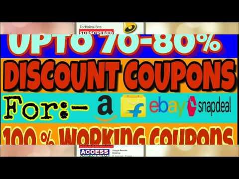Discount Coupons For Shopping || Amazon, Flipkart, Ebay, Myntra etc.