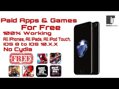 How To Download Paid Apps And Games For Free Without Jailbreak on iOS 10.0.2 , iOS 9    Hindi   Urdu